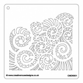 Creative Muse Designs Stencil - Waves