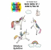 Creative Muse Designs Clear Stamp Set - Unicorn Sparkles Set 2