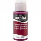 DecoArt Media Fluid Acrylic Paint - Quinacridone Magenta