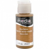 DecoArt Media Fluid Acrylic Paint - Raw Sienna
