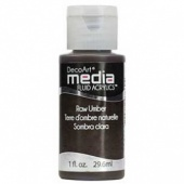 DecoArt Media Fluid Acrylic Paint - Raw Umber
