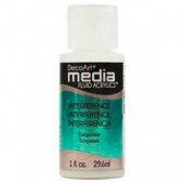 DecoArt Media Fluid Acrylic Paint - Turquoise Interference