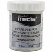 DecoArt Media Texture Sand Paste - White