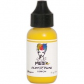 Dina Wakley Media Heavy Body Acrylic Paint - Lemon - 1oz