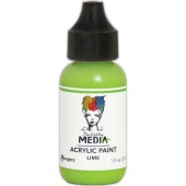 Dina Wakley Media Heavy Body Acrylic Paint - Lime - 1oz