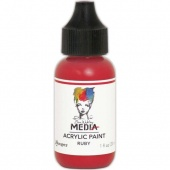 Dina Wakley Media Heavy Body Acrylic Paint - Ruby - 1oz