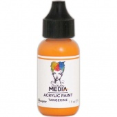 Dina Wakley Media Heavy Body Acrylic Paint - Tangerine - 1oz