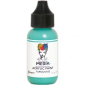 Dina Wakley Media Heavy Body Acrylic Paint - Turquoise - 1oz