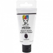 Dina Wakley Media Heavy Body Acrylic Paint - Umber
