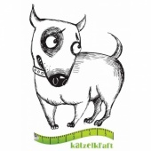 Katzelkraft Unmounted Rubber Stamp - Chien Sidony - SOLO085