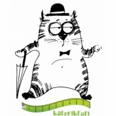 Katzelkraft Unmounted Rubber Stamp - Les Gros Chats 03 - SOLO74