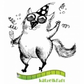 Katzelkraft Unmounted Rubber Stamp - Les Gros Chats 04 - SOLO75