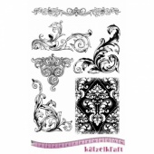 Katzelkraft Unmounted Rubber Stamp Set - Baroque - KTZ180