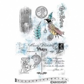 Katzelkraft Unmounted Rubber Stamp Set - Carte Postale - KTZ218