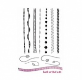 Katzelkraft Unmounted Rubber Stamp Set - Les Bordures - KTZ162