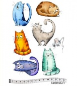 Katzelkraft Unmounted Rubber Stamp Set - Les Chats Russes - KTZ152