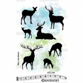 Katzelkraft Unmounted Rubber Stamp Set - Mini Reindeers - KTZ198