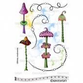 Katzelkraft Unmounted Rubber Stamp Set - Whimsy Mushrooms - KTZ191