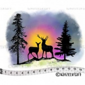 Katzelkraft Unmounted Rubber Stamp - Winter Scene - KTZ197