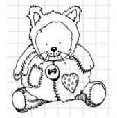 Lost Coast Designs Stamp - Creepy Dolls - Teddy 1