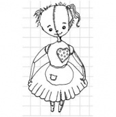 Lost Coast Designs Stamp - Creepy Dolls - Heart Doll