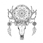 Lost Coast Designs Stamp - Large Elk Skull