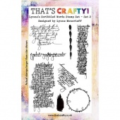 That's Crafty! Clear Stamp Set - Lynne's Scribbled Words - Set 2