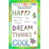 That's Crafty! Clear Stamp Set - Happy Cool
