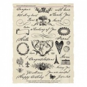 Oxford Impressions Unmounted Stamp Set - With Love