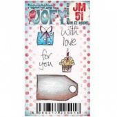 PaperArtsy Cling Mounted JOFY Collection Stamp - Mini JM51