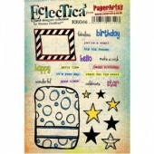 PaperArtsy Cling Mounted Stamp Set - Eclectica³ - Emma Godfrey - EEG06