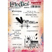 PaperArtsy Cling Mounted Stamp Set - Eclectica³ - Sara Naumann - ESN24