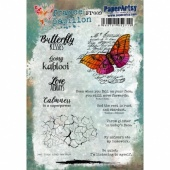 PaperArtsy Cling Mounted France Papillon Collection Stamp Set - FP009