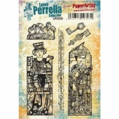 PaperArtsy Cling Mounted Stamp Set - Lynne Perrella Collection - LPC032