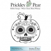 Prickley Pear Cling Mounted Stamp - Dead Head Pumpkin