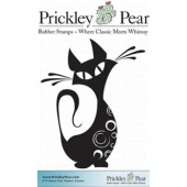 Prickley Pear Cling Mounted Stamp - Swirly The Cat