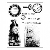 Prima Finnabair Cling Mounted Stamp Set - Never Too Late - 961985