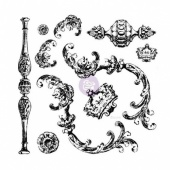 Prima Iron Orchid Designs Decor Clear Stamp Set - Louis - 814335
