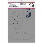 Dina Wakley Media Stencil - Tropical