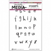 Dina Wakley Media Cling Mount Stamp Set - Scribbly Alphabet