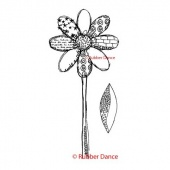 Rubber Dance Unmounted Stamp Set - Textured Daisy