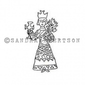 Rubber Moon - Sandra Evertson - Cling Mounted Stamp - Devotion