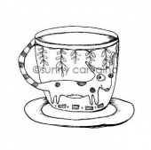 Rubber Moon - Sunny Carvalho - Cling Mounted Stamp - Pup Cup