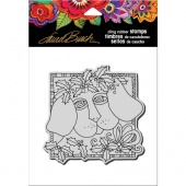 STAMPENDOUS! Laurel Burch Cling Rubber Stamp - Holly Pup