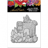 STAMPENDOUS! Laurel Burch Cling Rubber Stamp - Lion With Bird