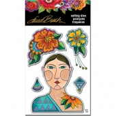 STAMPENDOUS! Laurel Burch Die Set - Blossoming Woman