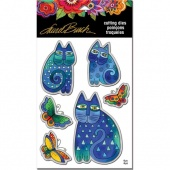 STAMPENDOUS! Laurel Burch Die Set - Indigo Cats
