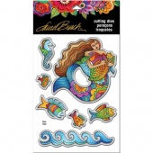 STAMPENDOUS! Laurel Burch Die Set - Mermaid Fish