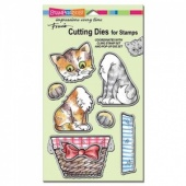 STAMPENDOUS! Die Cut Set - Pop Up Kitties