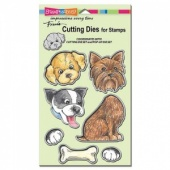 STAMPENDOUS! Die Cut Set - Pop Up Puppies